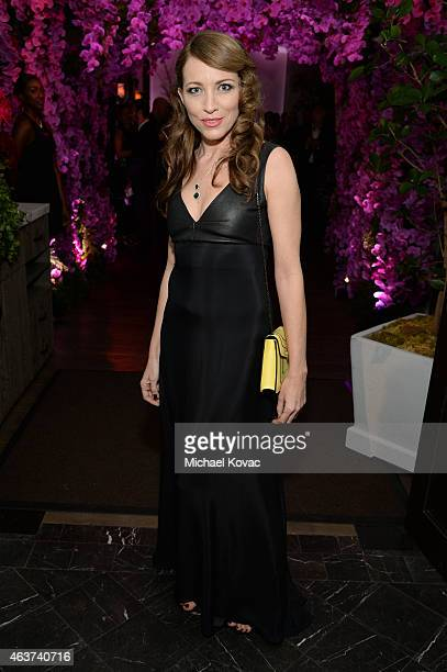 Sanny Van Heteren attends BVLGARI and Save The Children STOP THINK GIVE PreOscar Event at Spago on February 17 2015 in Beverly Hills California