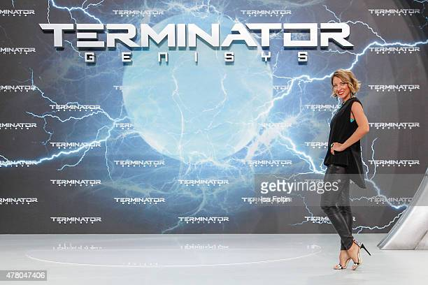 Sanny van Heteren attends the European premiere of 'Terminator Genisys' at the CineStar Sony Center on June 21 2015 in Berlin Germany