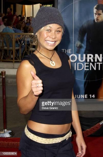 "Sanoe Lake during ""The Bourne Identity"" Premiere at Loews Cineplex - Universal Studios Cinema in Universal City, California, United States."