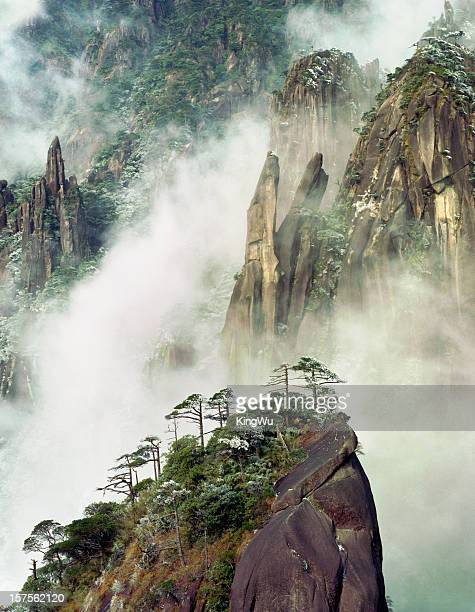 sanqingshan national park - jiangxi province stock photos and pictures