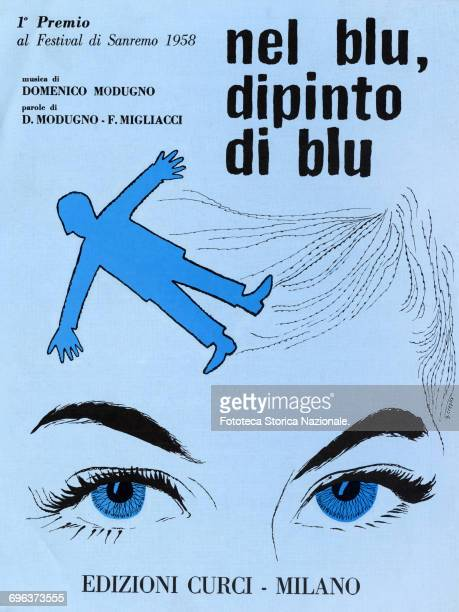Sanremo Festival sheet music 'In the blue painted blue' song universally known by the title 'Volare' first prize at the Festival di Sanremo 1958...