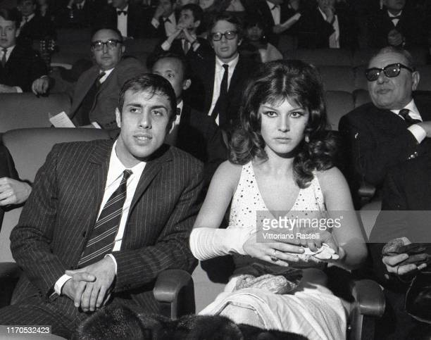 Sanremo, Italy, January 1966: Italian singer Adriano Celentano with his wife Claudia Mori during the Festival della Canzone.