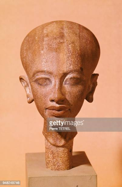 Sans doute une des filles d'AKHENATON dont le buste ne fut jamais achevé XIVème siècle avant JC