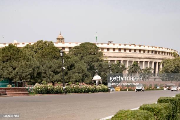 Sansad Bhawan (Parliament Building), New Delhi, India