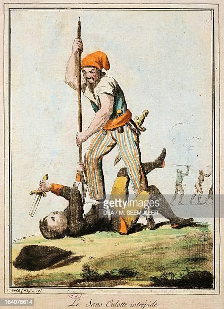 A sansculotte killing one of the king's guards French Revolution France 18th century Paris Hôtel Carnavalet