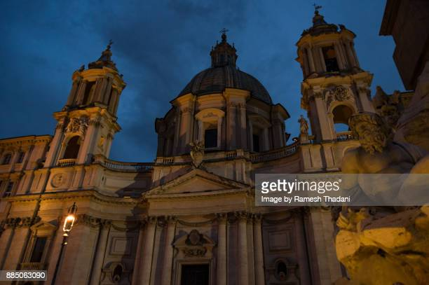 Sant' Agnese in Agone Church at Night