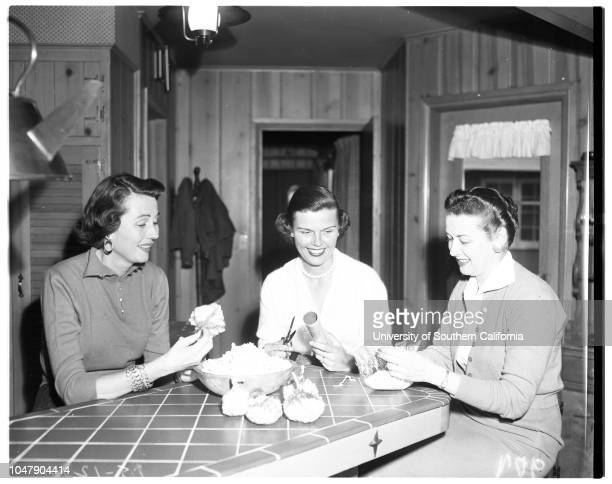 Santa Ana Auxiliary Children's Hospital, 3 February 1958. Mrs Marjorie Hunt;Mrs C.C Brown;Mrs F.C Stockinger.;Caption slip reads: 'Photographer:...