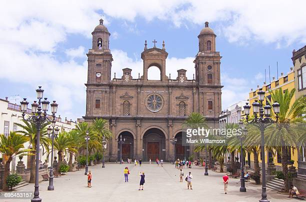 santa ana cathedral, las palmas. - las palmas cathedral stock photos and pictures