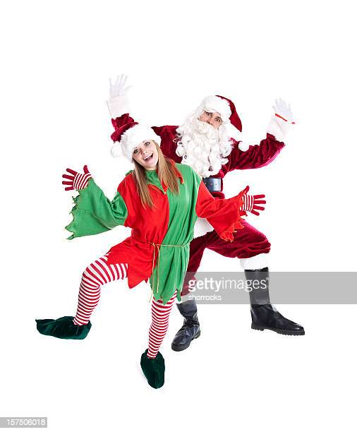 Santa and Elf Dancing (Full Length)