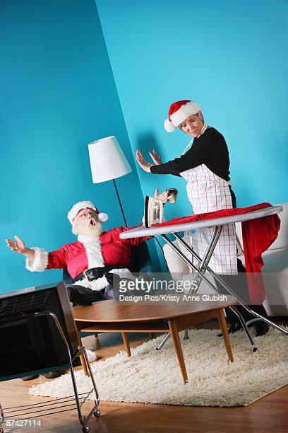 Santa and Mrs. Claus arguing