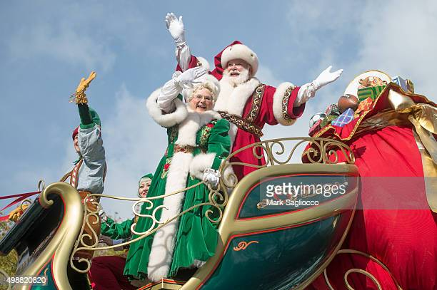 Santa and Mrs Claus attend the 89th Annual Macy's Thanksgiving Day Parade on November 26 2015 in New York City