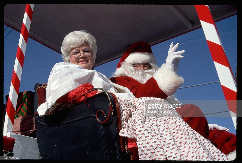 Santa And Mrs Claus Stock Photo