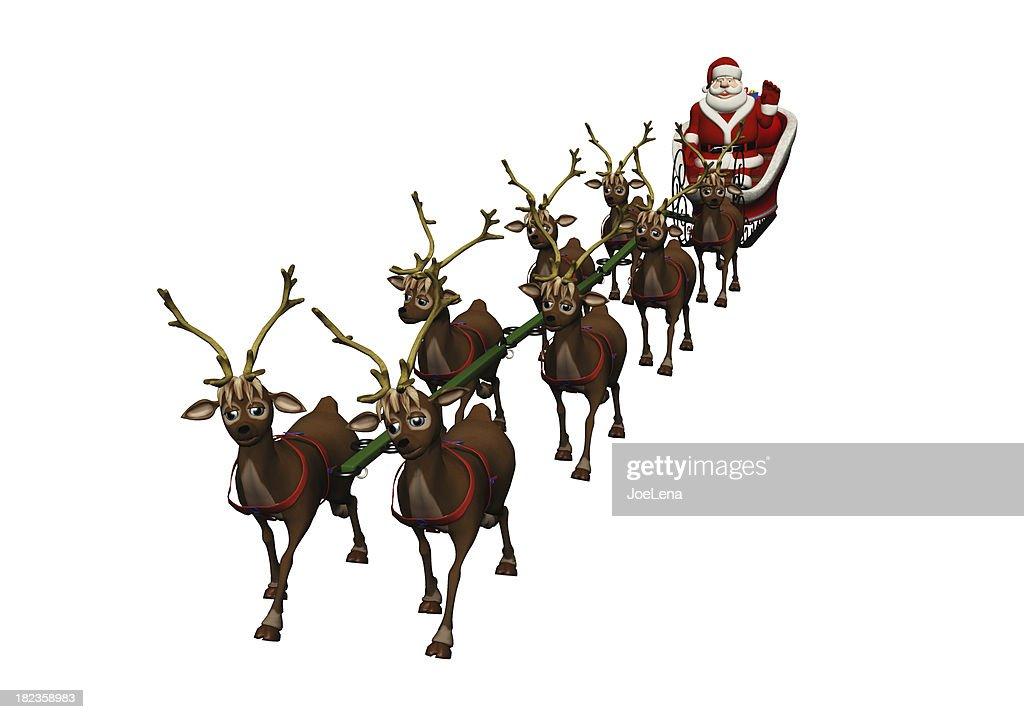 Santa And Sleigh : Stock Photo