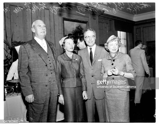 Santa Anita, 1 March 1958. Mr and Mrs John D Hertz;Mr and Mrs T S Petersen;Mr and Mrs Kenneth Monteagle;Mr and Mrs Leigh M Battson;Marquis George...