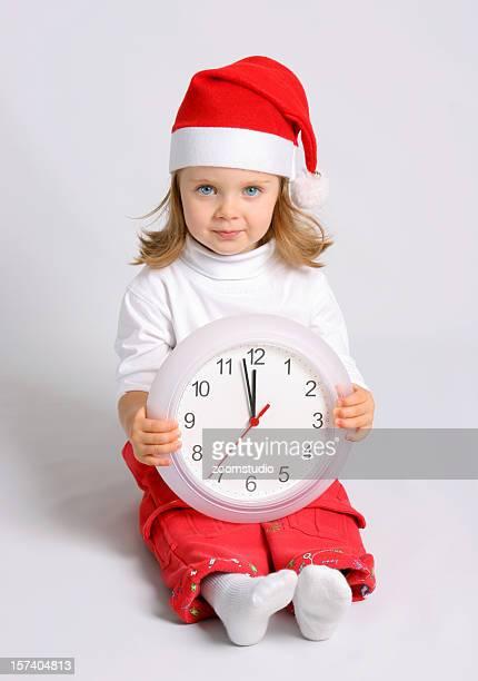 Santa baby with clock