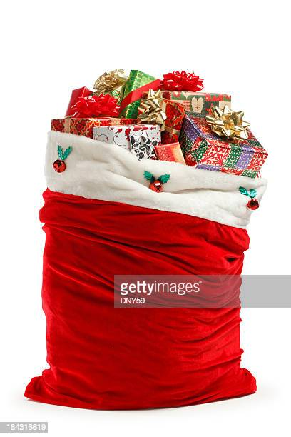 santa bag - bag stock pictures, royalty-free photos & images