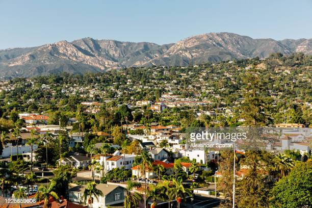 santa barbara aerial view cityscape, california, usa - california stock pictures, royalty-free photos & images