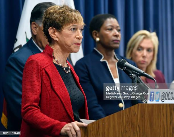 Santa Barbara County District Attorney Joyce Dudley answers questions about the Golden State Killer during a press conference about the Golden State...