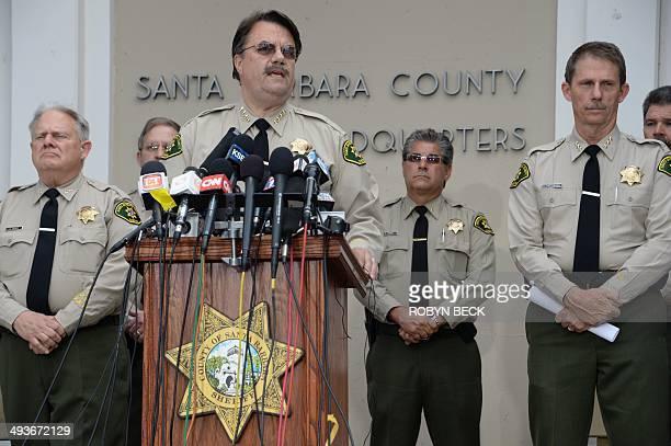 Santa Barbara County Sheriff Bill Brown speaks at a press conference regarding murder suspect Elliot Rodger at a press conference in Goleta...