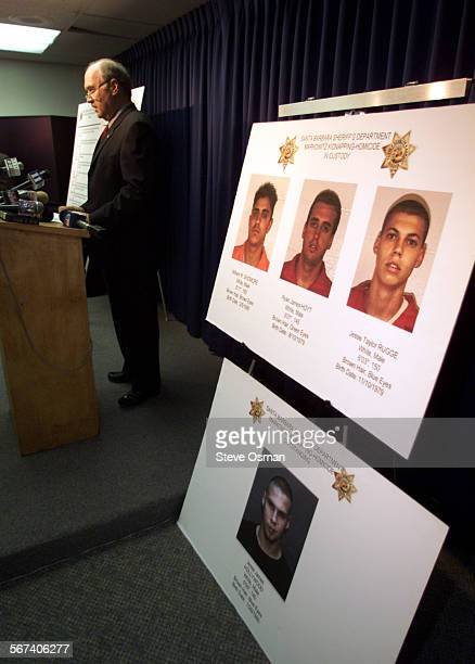 Santa Barbara County Sheriff Jim Thomas holds a press conference to announce details in the slaying of Nicholas Markowitz Suspects in custody...