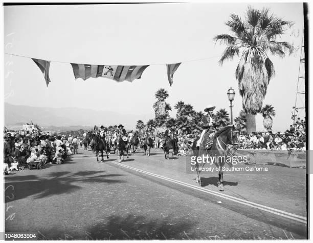 Santa Barbara Fiesta and Old Spanish Days 23 August 1951 Lia Parker 17 yearsJohn Gault massed [amasssed] colorsStanley CaseMildred BushVirginia...
