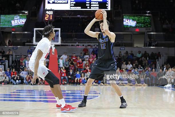 Santa Barbara Gauchos forward Alex Hart passes during the NCAA men's basketball game between SMU and UC Santa Barbara on November 22 2016 at Moody...