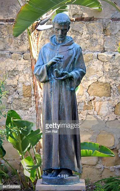 santa barbara mission in california, usa  - saint francis of assisi - mission santa barbara stock pictures, royalty-free photos & images