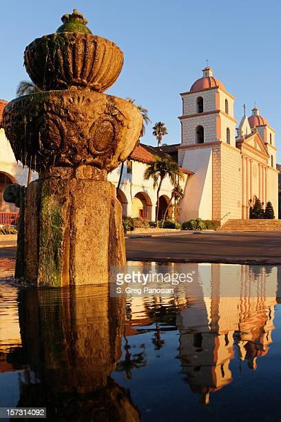 santa barbara mission - mission santa barbara stock pictures, royalty-free photos & images