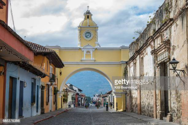 Santa Catalina Arch, a famous landmark of Antigua, Guatemala
