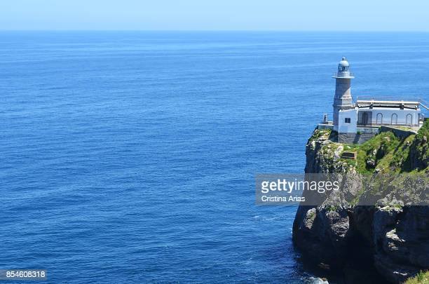 Santa Catalina Lighthouse in Lekeitio on 18 June 2017, Vizcaya, Basque Country, Spain.