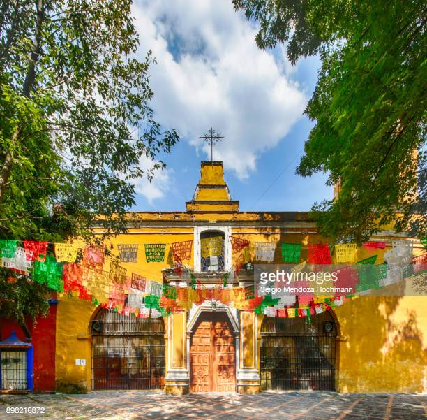 santa catarina church in coyoacan - mexico city, mexico - mexico city stock pictures, royalty-free photos & images