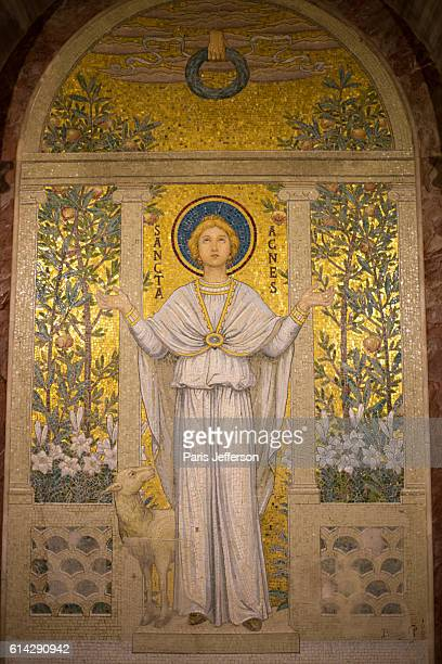 santa cecilia in trastevere - st. cecilia stock photos and pictures