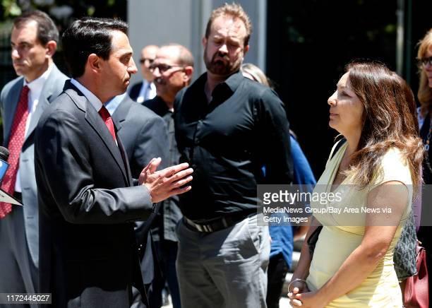 Santa Clara County District Attorney Jeff Rosen left talks with Marlene LaMar right after Antolin GarciaTorres was sentenced to life in prison...