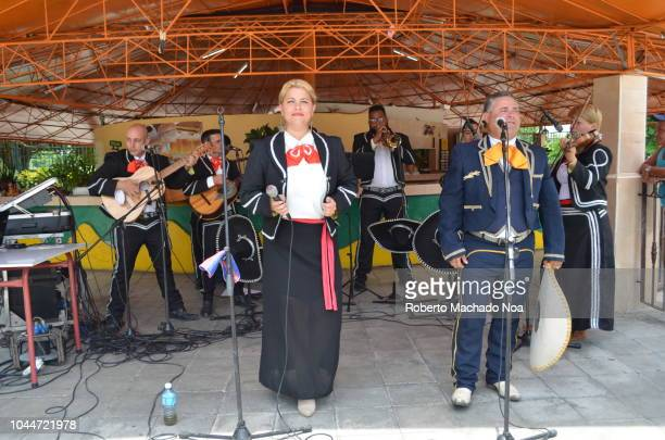 santa clara, cuba: a mariachi band performs in the sandino cultural center - performing arts center stock pictures, royalty-free photos & images