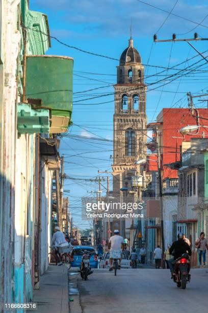 santa clara, cuba, the buenviaje catholic church - santa clara cuba stock pictures, royalty-free photos & images