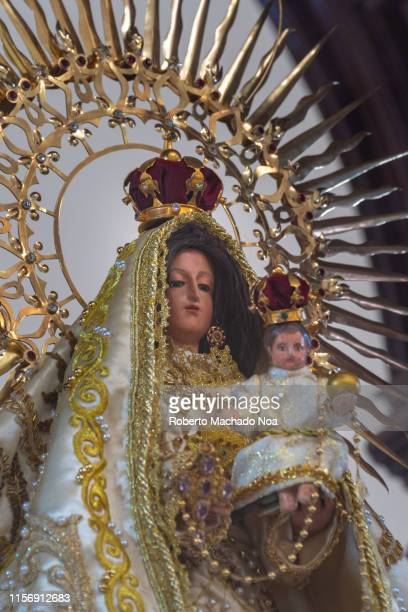 santa clara, cuba, the virgin mambisa in the buenviaje church - santa clara cuba stock pictures, royalty-free photos & images