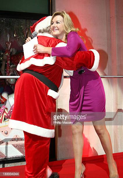 Santa Claus and Claire Byrne attend the launch of Brown Thomas' Christmas windows on November 18, 2011 in Dublin, Ireland.