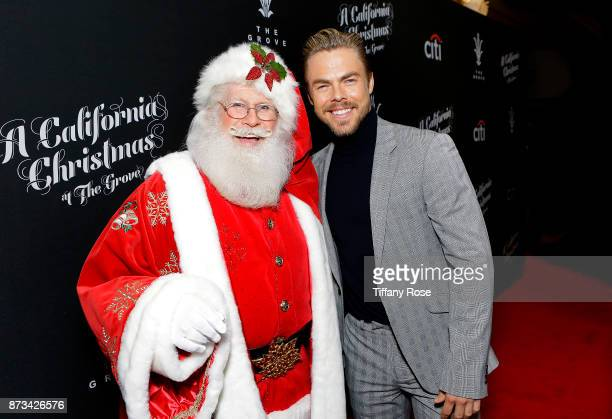 Santa Claus and Derek Hough at A California Christmas at the Grove Presented by Citi on November 12 2017 in Los Angeles California