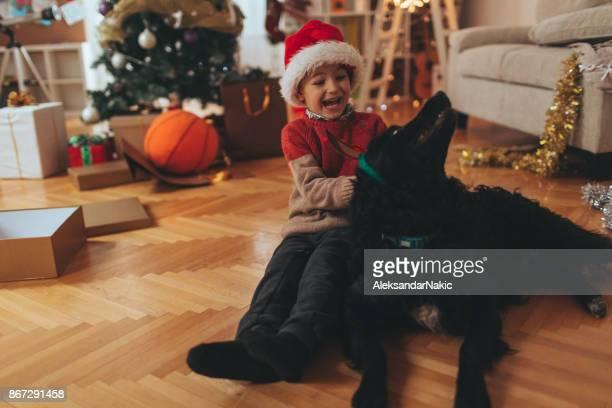Santa Claus and his pet