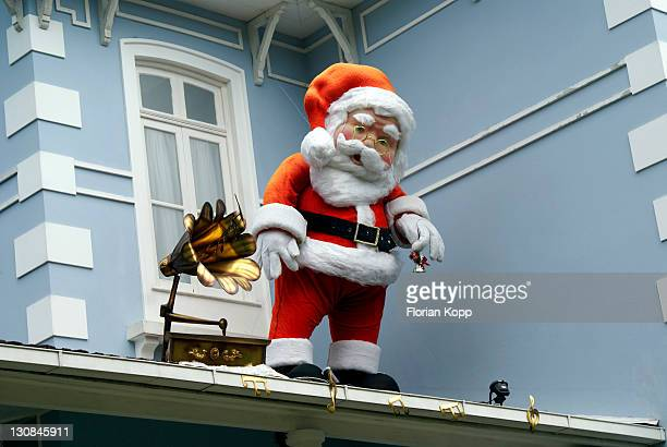 Santa Claus ans Gramophone on a roof, Petropolis, Rio de Janeiro, Brazil