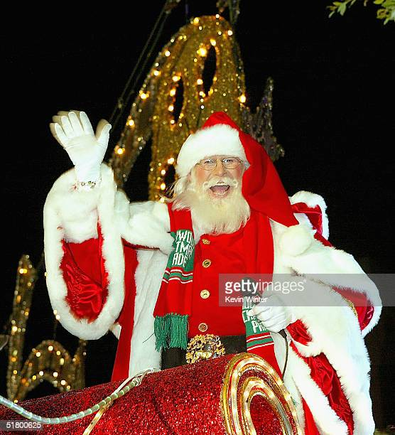Santa Claus appears at the 73rd Annual Hollywood Christmas Parade on November 28, 2004 in Hollywood, California.