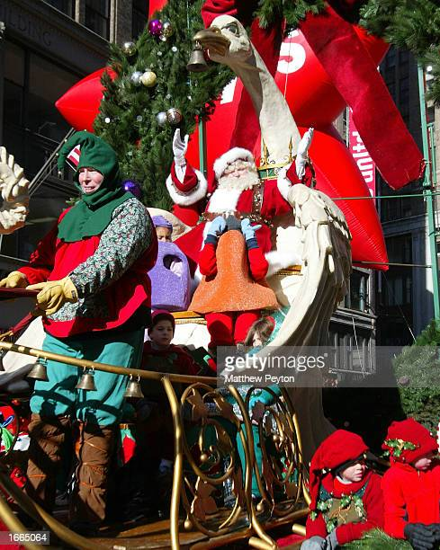 Santa Claus appears at the 76th Annual Macy's Thanksgiving Day Parade in Herald Square November 28 2002 in New York City