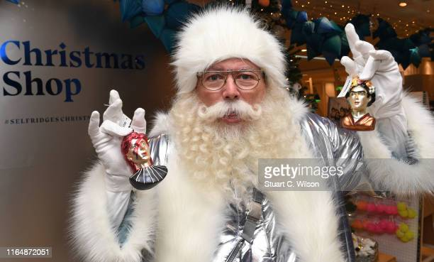 Santa Claus attends a photocall during the Selfridges London Christmas shop opening at Selfridges on July 29, 2019 in London, England.