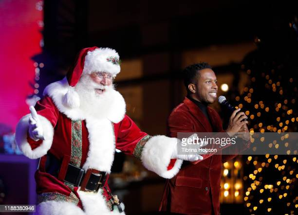 Santa Claus attends Christmas at The Grove A Festive Tree Lighting celebration at The Grove on November 17 2019 in Los Angeles California