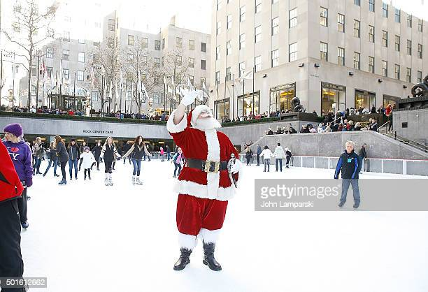 Santa Claus attends Elf The Musical' cast opens the VIP Igloo at the Rink at Rockefeller Center at The Rink at Rockefeller Center on December 16 2015...