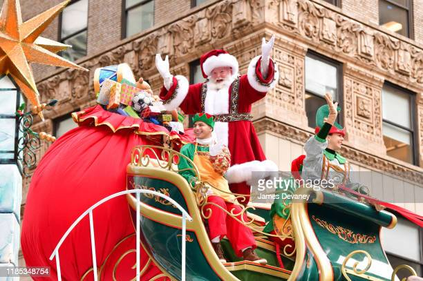 Santa Claus attends the 93rd Annual Macy's Thanksgiving Day Parade on November 28, 2019 in New York City.