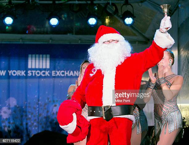 Santa Claus attends the 93rd Annual New York Stock Exchange Christmas Tree Lighting at New York Stock Exchange on December 1 2016 in New York City