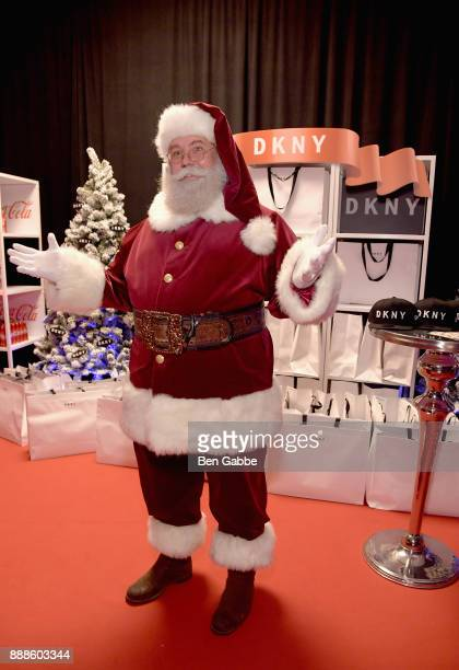 The gift of the holidays getty images santa claus attends the dkny gift lounge at jingle ball on december 8 2017 in new negle Images