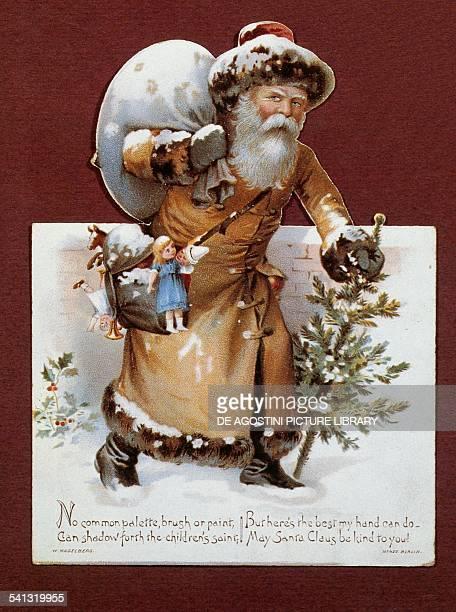 Santa Claus Christmas card United Kingdom 20th century