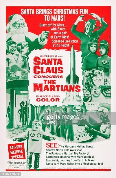 Santa Claus Conquers The Martians poster US poster top left John Call Victor Stiles Donna Conforti top right Bill McCutcheon Leila Martin Pia Zadora...